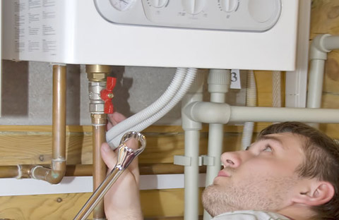 Jake is performing a water heater inspection